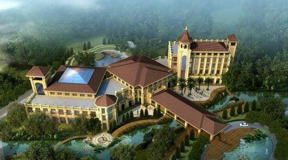 酒店一期项目为欧式建筑及皇家园林景观设计风格,打造的特色餐厅装修