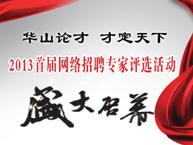"""首届""""网络招聘专家""""评选活动"""