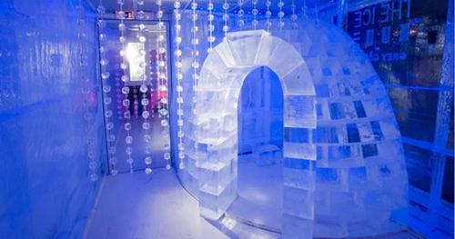 加拿大魁北克的冰酒店  加拿大魁北克的冰酒店从2001年开始就是加拿大冬季的一大亮点,也是北美唯一一家完全由冰雪制成的酒店。每年都会有15个雕刻家来参与酒店的设计,酒店共有36个房间和主题套房,还有餐厅、酒吧、户外按摩缸和桑拿浴。2011年开始,冰酒店挪到了离市中心只有10分钟车程的地方,从魁北克机场坐公车或出租车都可以到达,非常方便。房间的价格大概是每人215美元每晚。