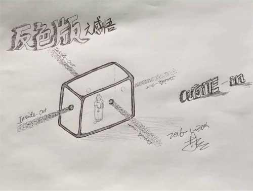 老林圆珠笔画 :反色版影像