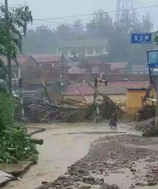安阳突降大暴雨 马家乡受灾严重