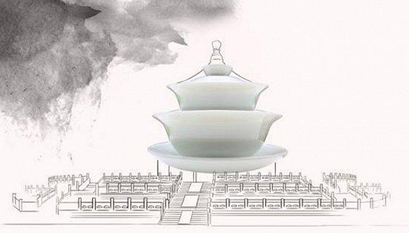 """盖碗·北京天坛    盖碗是一种上有盖、下有托,中有碗的茶具,又称""""三才碗""""、""""三才杯"""",盖为天、托为地、碗为人,暗含天地人和之意。谈到天地人和,在漫长的历史中屹立至今的北京天坛曾见过明、清历代帝王于此祭祀皇天、祈五谷丰登,也见过数代老北京人喝盖碗茶的欢喜。老北京人都喜欢用盖碗喝茶,特别是看戏的时候——口干舌燥之余,把盖子对着茶杯,""""哐当""""、""""刺啦""""作响,铿锵有力,金声玉振。"""