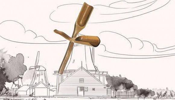 """茶则·荷兰风车    茶则是茶道六用之一,是民间烹试茶时量取茶末入汤的量具。在茶道中,把茶从茶罐取出置于茶荷或茶壶时,需要用茶则来量取。荷兰则被称为""""风车之国"""",在荷兰的大港--鹿特丹和阿姆斯特丹的近郊,有很多风车的磨坊、锯木厂和造纸厂,其形成的特别景色像童话世界般扑朔迷离,不由人遐想联翩。就如茶则中的茶,不投入壶中,你永远不会知道它的滋味。"""