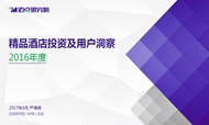 2016年中国精品酒店市场大数据分析报告-精华版