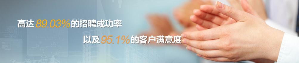 高达86.5%的招聘成功率,以及93.6%的客户满意度
